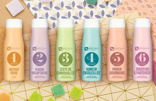 Gels douche à collectionner Body Nature