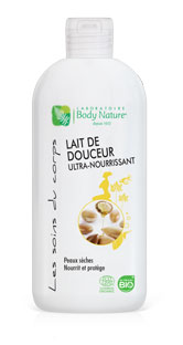 Lait de douceur ultra nourrissant Body Nature